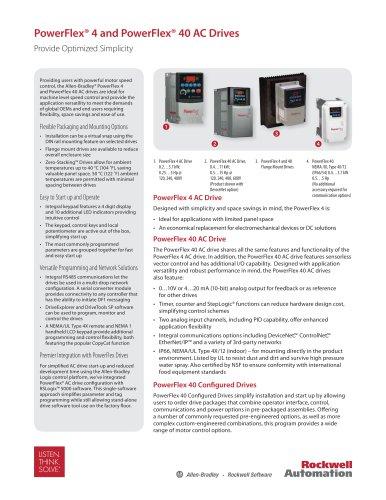 PowerFlex® 4 and PowerFlex® 40 AC Drives