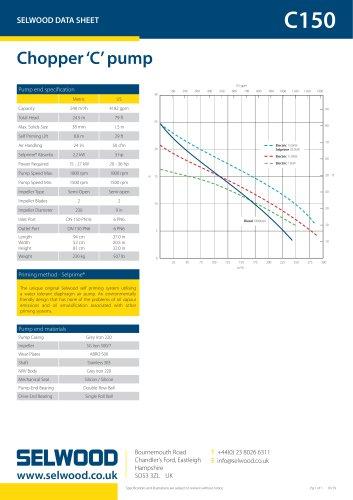 C150 data sheet