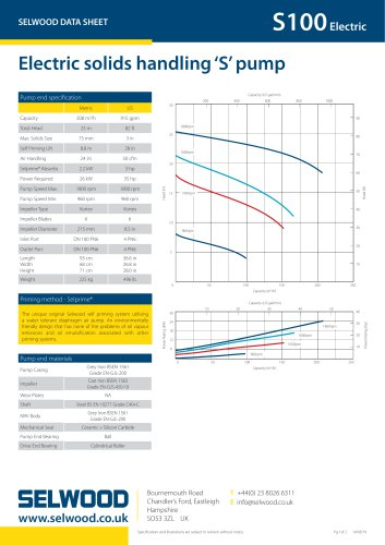 S100 Electric data sheet
