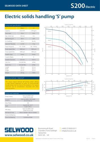 S200 Electric data sheet