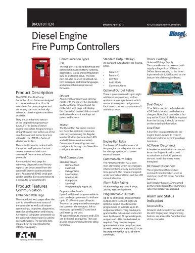 Diesel Engine Fire Pump Controllers
