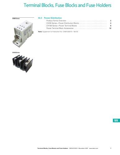 Terminal Blocks, Fuse Blocks and Fuse Holders