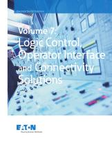 Volume 07 - Logic Control, Operator Interface and Connectivity Solutions
