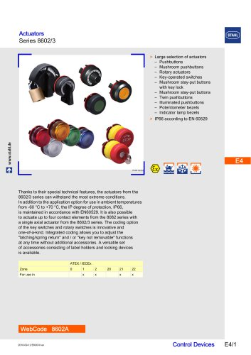 Actuators Series 8602/3
