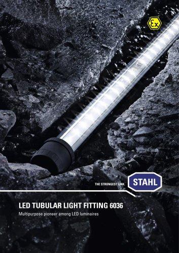 LED tubular light fitting 6036