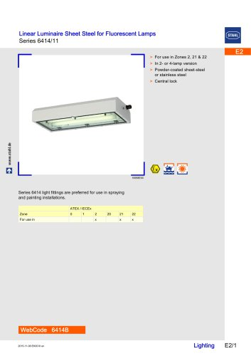 Sheet-Steel Light Fittings Series 6414