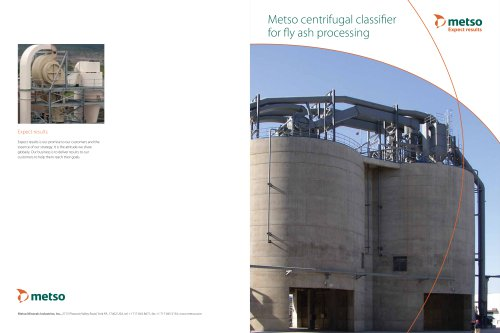 Metso Centrifugal Air Classifier for Fly Ash Processing