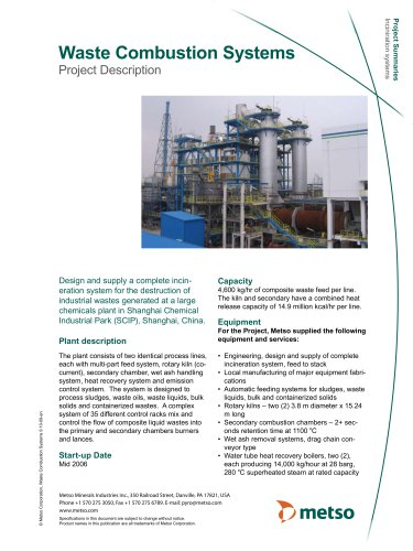 Waste Combustion Systems Brochure