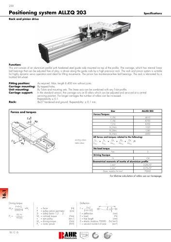 Positioning system ALLZQ 203