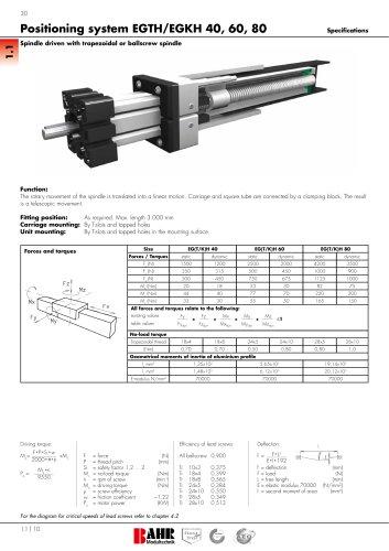 Positioning system EGTH/EGKH 40, 60, 80