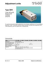 Adjustment units Type SEK