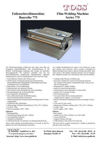 Film-Welding Machine Series 775