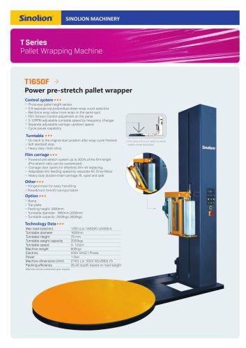 Sinolion  Powered Pre-stretch Wrapping machine T1650F