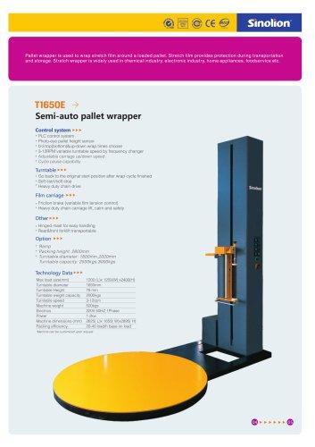 Sinolion  Semi-auto Pallet Stretch Film Wrapping  T1650E