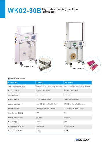 automatic banding machine / table-top WK02-20, WK02-30