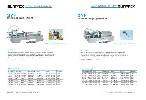 SUNPACK liquid piston filler