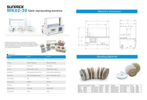 SUNPACK WK02-30 table top Paper banding machine