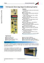 7310 Dynamic Strain Gage Signal Conditioning Ampli er