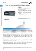 EC-34 Two Quadrature Encoder to Analog Converter