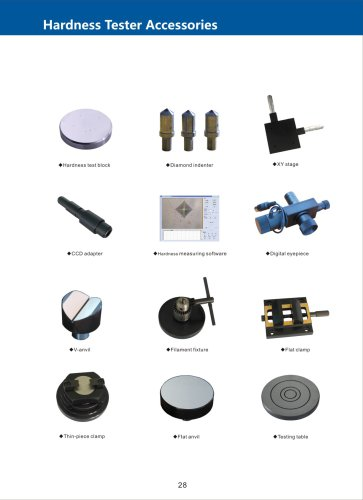 Accessories for Hardness Tester