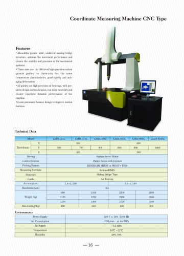 CNC Coordiante Measuring Machine