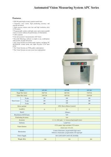 CNC video measuring machine APC Series
