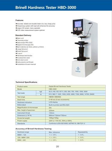 Digital Brinell Hardness Tester HBD-3000