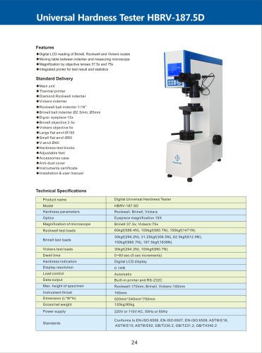 Digital Universal Hardness Tester HBRV-187.5D