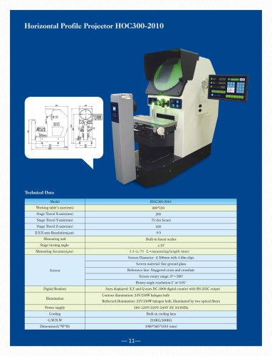 HOC series Horizontal Optical Comparator