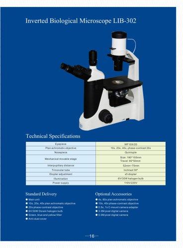 Inverted Biological Microscope LIB-302