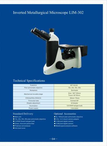 Inverted Metallurgical Microscope LIM-302