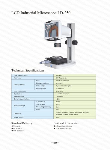LCD Industrial Microscope LD-250