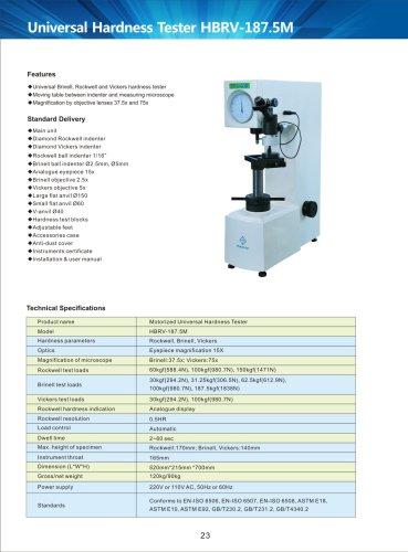 Motorized Universal Hardness Tester HBRV-187.5M