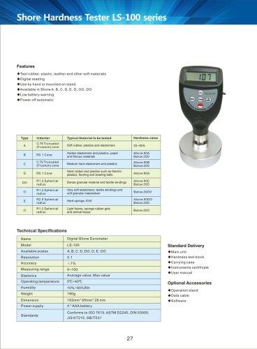 Portable Shore Durometer LS-100