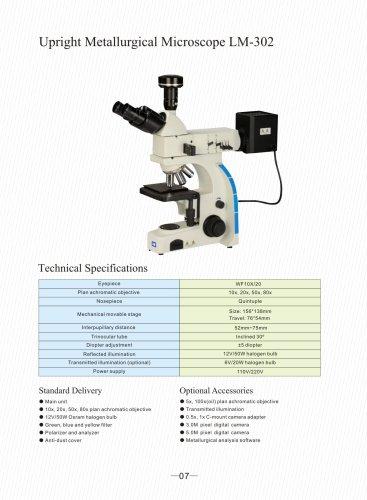 Upright Metallurgical Microscope LM-302