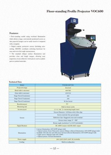 VOC600 Optical Comparator
